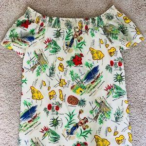 J. Crew Summer Off-Shoulder Hawaii Dress